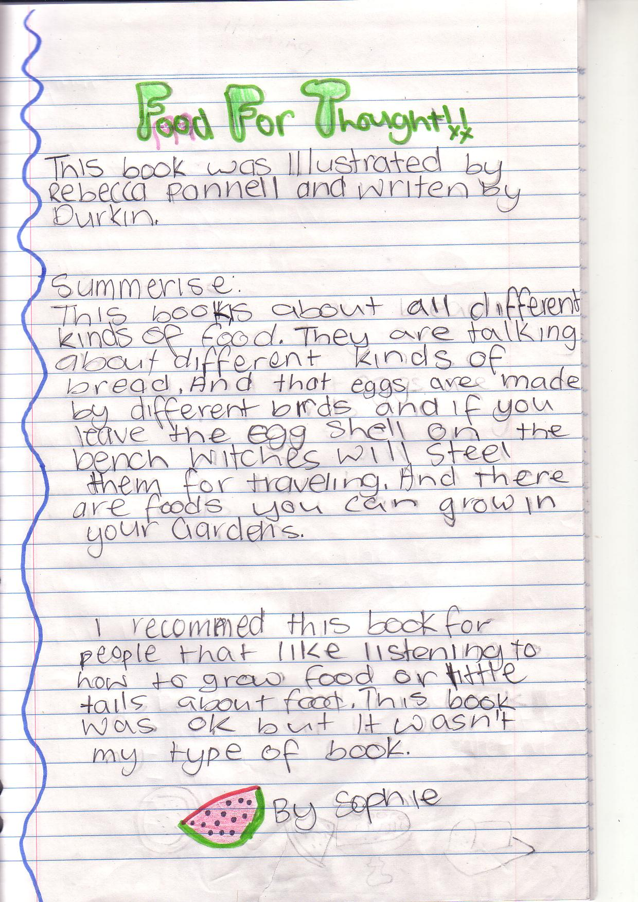 4th grade book report summary Writing a formal book report lower elementary format 2nd and 3rd grade students please include a full summary of the book's.